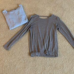 Zelle drapey open back sweaters